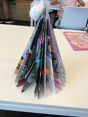 Paper Christmas tree craft, Tūranga