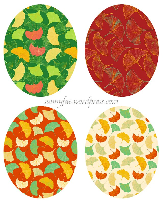 4 ginkgo patterns