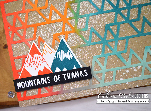 Triangle Cover Plate Mountain of Thanks Splattered Closeup JDC