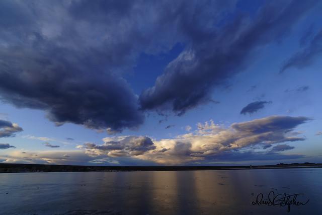Clouds At Sunset Over Cherry Creek Dam & Reservoir