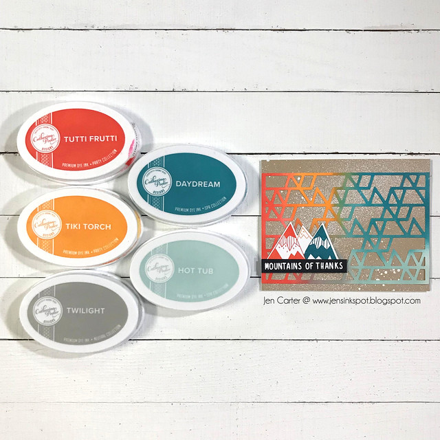 Triangle Cover Plate Mountain of Thanks Splattered JDC Color Combo