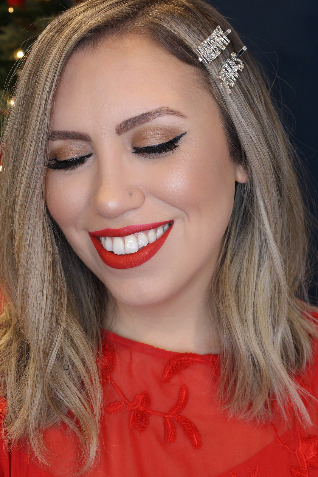 Glam Holiday Makeup Tutorial Wearable Matte Red Lip