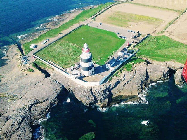 Hook light house from coast guard rescue helicopter