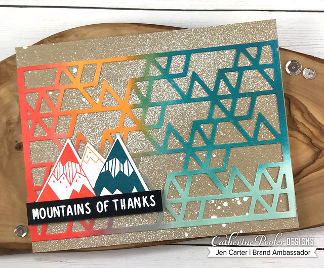 Triangle Cover Plate Mountain of Thanks Splattered JDC 2
