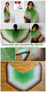 Emerald Isle Butterfly Shawl – Free Crochet Pattern 8