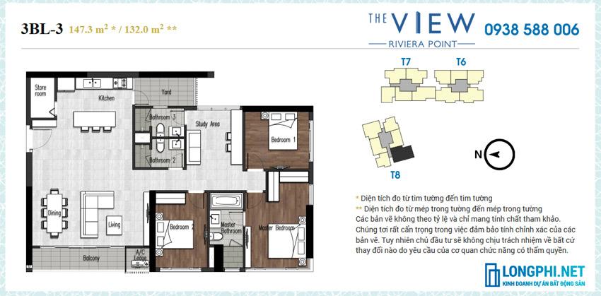 Chuyển nhượng/bán lại căn hộ 3 phòng ngủ 3 vệ sinh 1 phòng học tháp 8, tầng thấp.