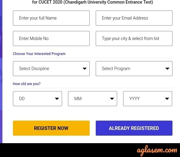Chandigarh University application form 2020