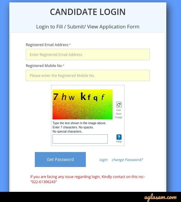 Forgot PGIMER candidate login password