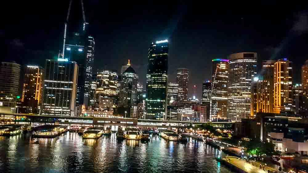 Night time in Sydney