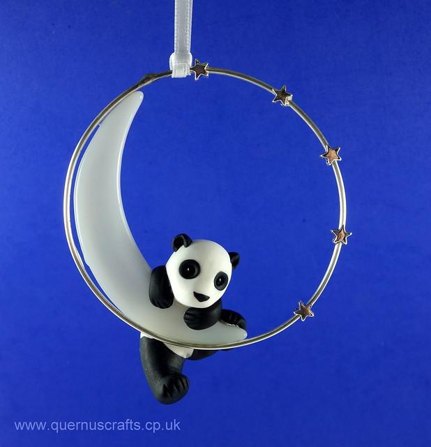 Little Panda on Glass Moon
