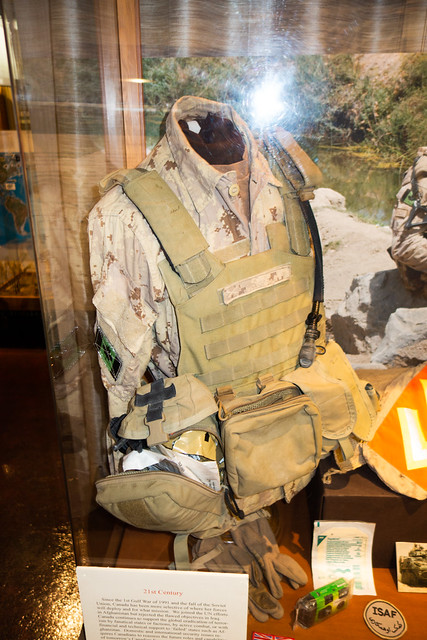 Canadian military vest and pack