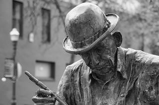 Sculpture at downtown Santa Cruz