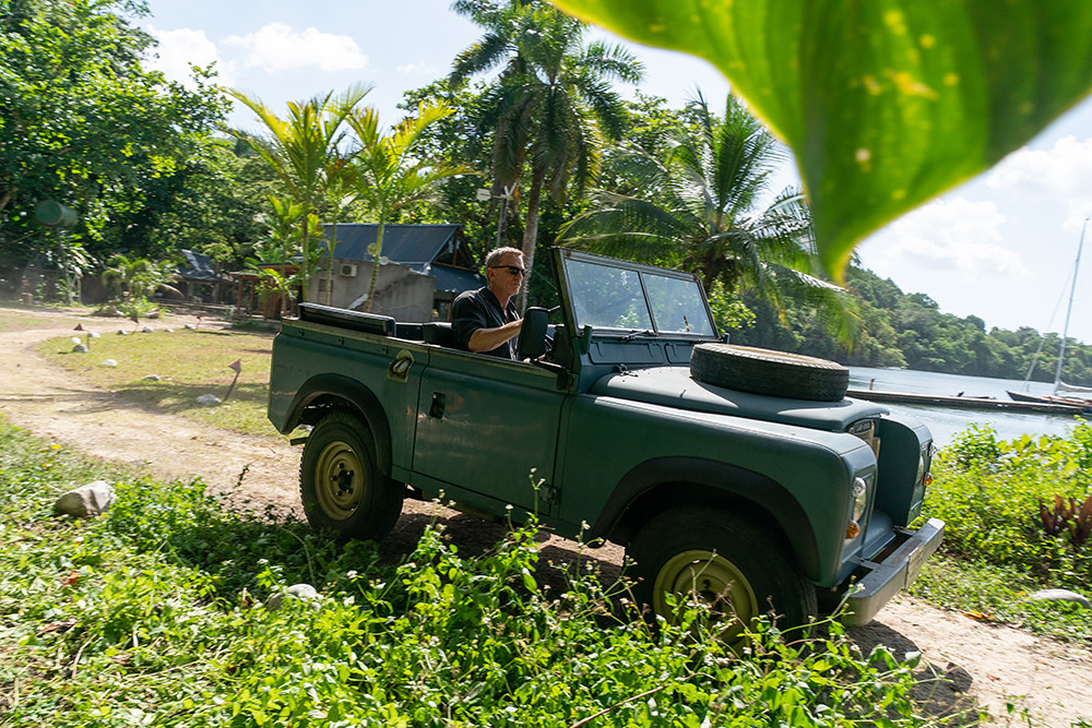 3. James Bond in his Land Rover Series III in Jamaica