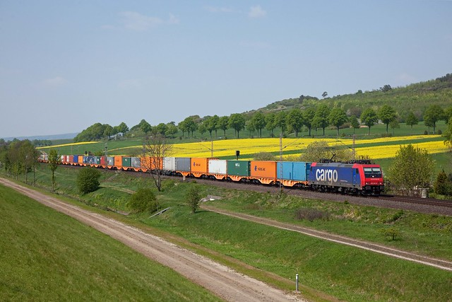 SBB Cargo 482 047 + Güterzug/goederentrein/freight train   - Hohnstedt