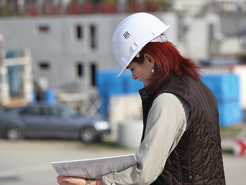 Female site surveyor