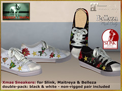 Bliensen - Xmas Sneakers - black & white