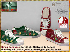 Bliensen - Xmas Sneakers - red & green