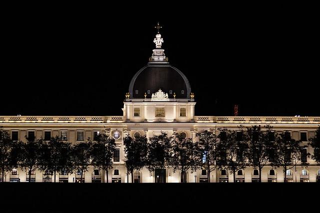 éclairage nocturne Hôtel Dieu - Lyon