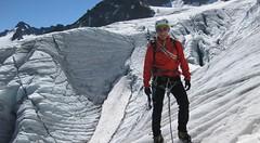 Piz Buin, Huttentocht met gletsjeroversteek