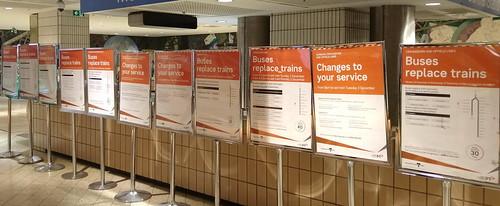 Works notices at Melbourne Central