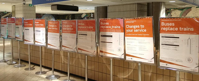 Works notices at Melbourne Central