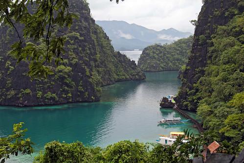 coron philippines asia palawan island laguna blue lake sea tropical