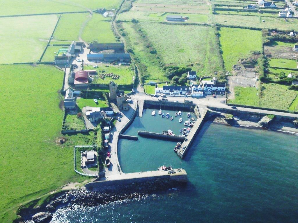 Slade Harbour, Wexford from the air
