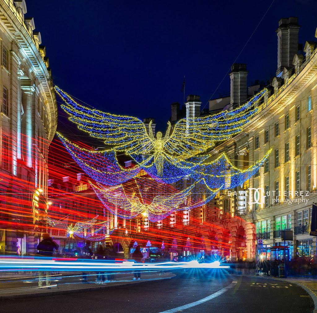 Christmas illuminations - Regent Street, London, UK