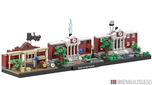 "Lego ""Back to the Future"" skyline MOC (2)"