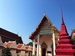 #temple roof & #blue sky #bangkok