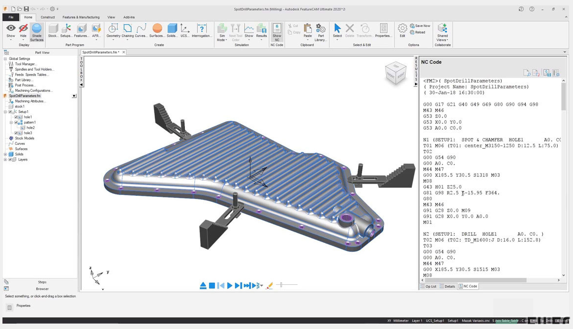 Working with Autodesk FeatureCAM Ultimate 2020.2.1 full license