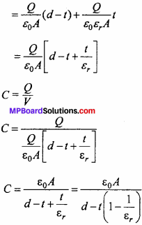 MP Board 12th Physics Chapter 2 Electrostatic Potential and Capacitance Important Questions - 27