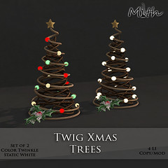 Twig Xmas Trees
