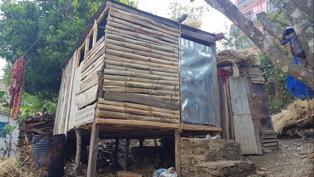 A Chhaupaudi hut in Nepal - picture taken during the research project led by Dr Channon.