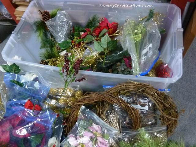Poinsettia Wreath at FromMyCarolinaHome.com
