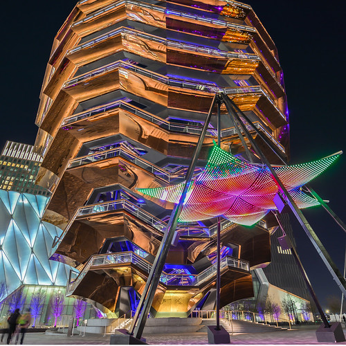 The Vessel and Shine On light installation at Hudson Yards | by NYC♥NYC