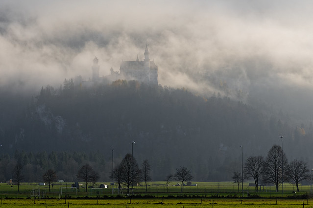 Neuschwanstein Castle - hidden in the fog