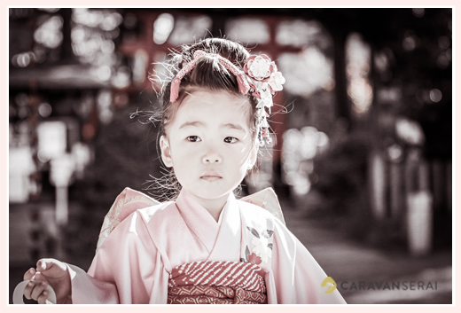 川原神社で七五三の出張撮影(名古屋市昭和区)