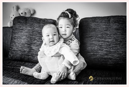 家族写真 姉妹の写真 自宅へ出張撮影