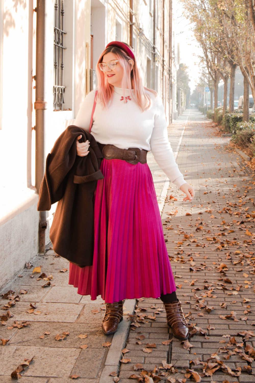 Outfit curvyplus size, come indossare la gnna in inverno (3)