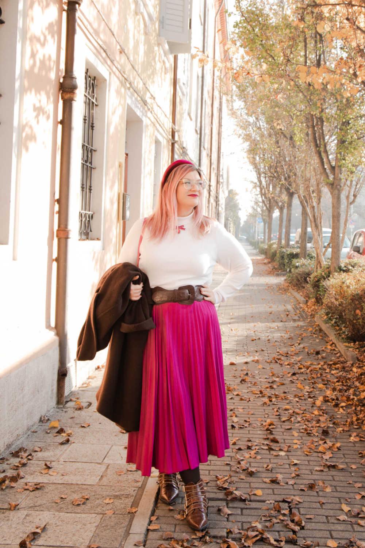Outfit curvyplus size, come indossare la gnna in inverno (2)