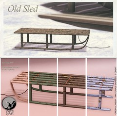 Old Sled : Exclusive Gift @ SL Winter Shop & Hop Event !