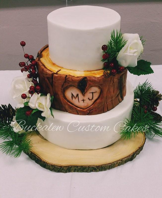 Wedding Cake by Buckalew Custom Cakes