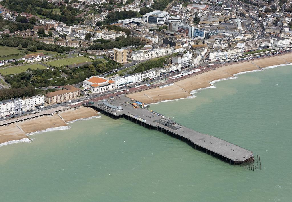 Hastings Pier aerial image