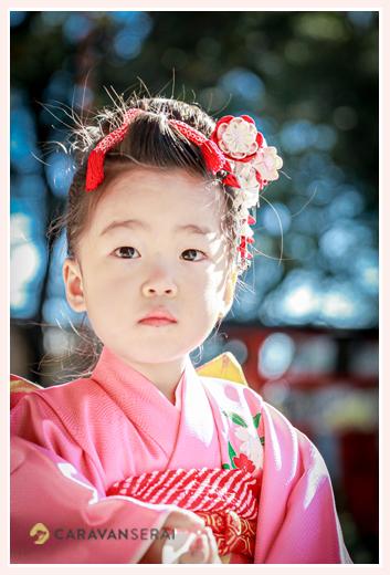 七五三 3歳の女の子 日本髪