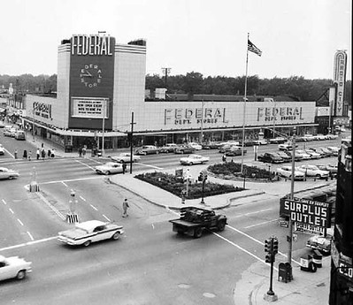 The old Federals Department Store at Woodward Avenue and 9 Mile Road in Ferndale, Michigan