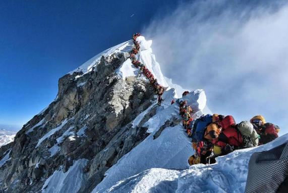 Aglomeraciones en el Everest