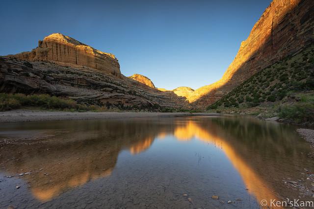Yampa River Sunset Reflections