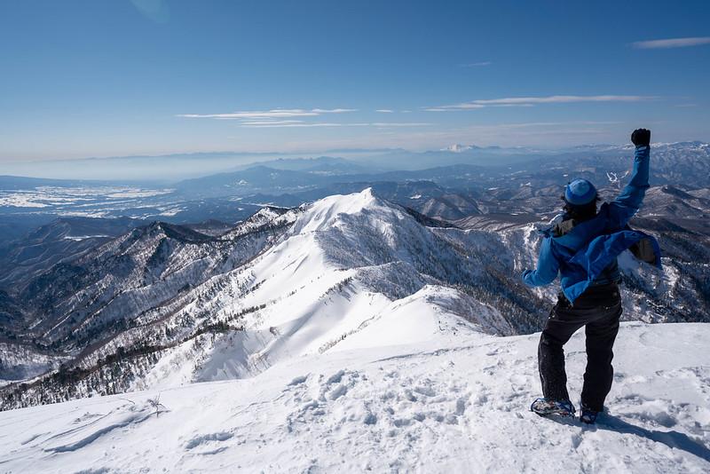 冬の上州武尊山の剣ヶ峰