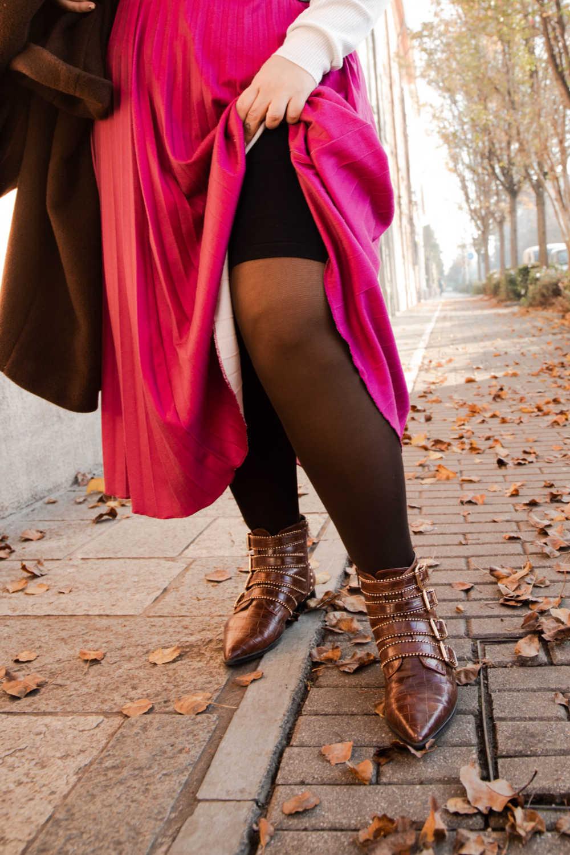 Outfit curvyplus size, come indossare la gnna in inverno (5)